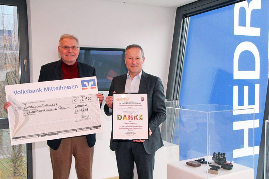 erneute Spende der Firma Hedrich GmbH